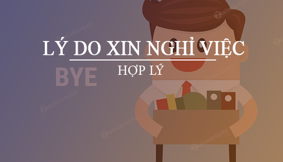 ly do xin nghi viec