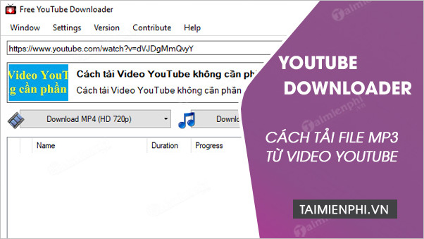 tai nhac mp3 tu video youtube bang youtube downloader
