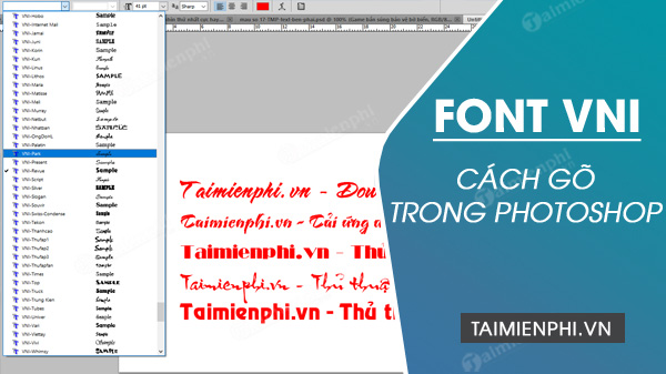 cach go font vni trong photoshop