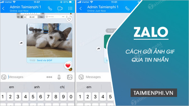 cach gui anh gif tren zalo cho iphone