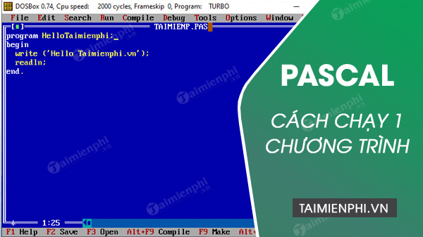 cach chay chuong trinh trong pascal