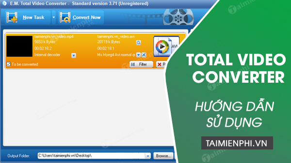 cach su dung total video converter