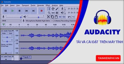Download and set audacity on computer