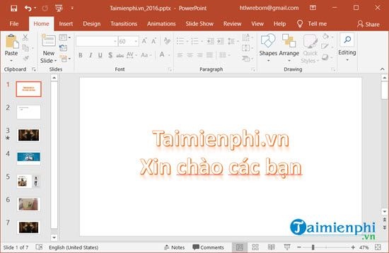 cach tao anh nghe thuat doc dao tren slide powerpoint