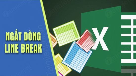 cach them ngat dong line break trong excel