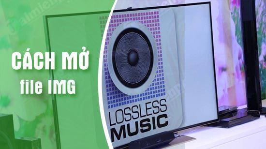 how to make img files in lossless music files